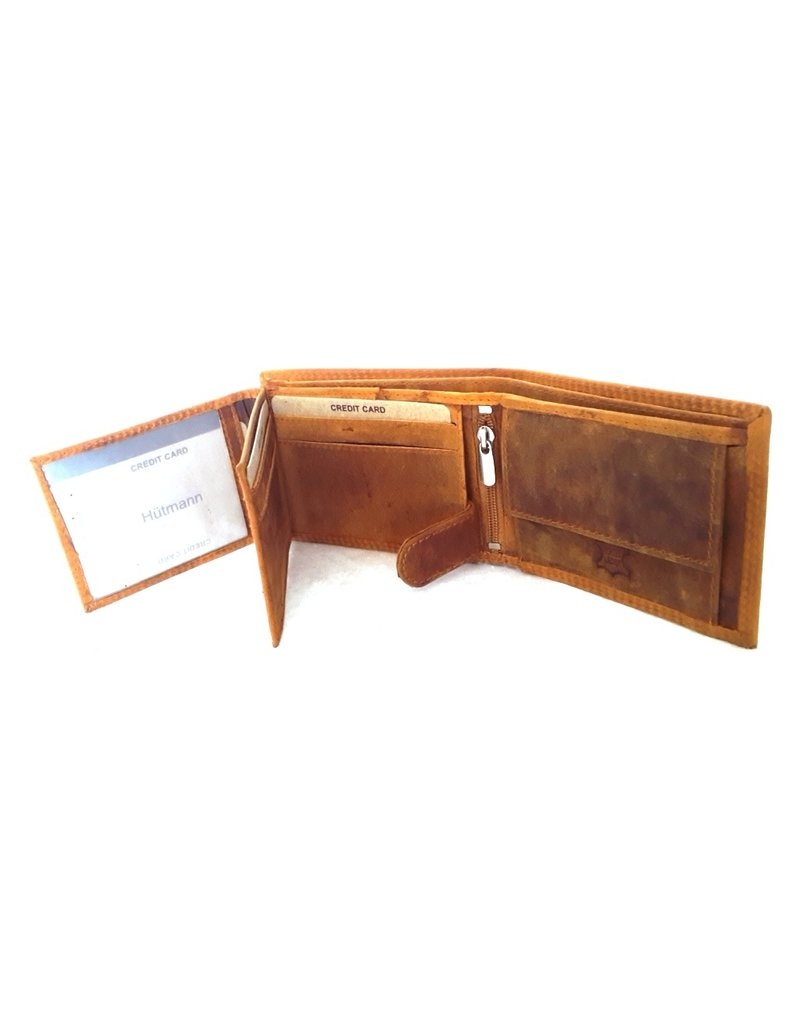 Hütmann Leren Portemonnees Leren portemonnee met reliëf paardenhoofd (klein)