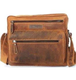 HillBurry HillBurry Unisex Leather Shoulder Bag (rectangle model)