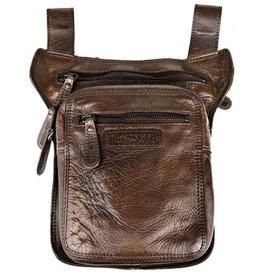 HillBurry HillBurry belt bag - leg bag washed leather brown