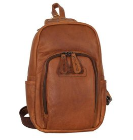 HillBurry Hillburry leather backpack cognac