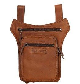 HillBurry Hillburry leather belt bag - leg bag cognac