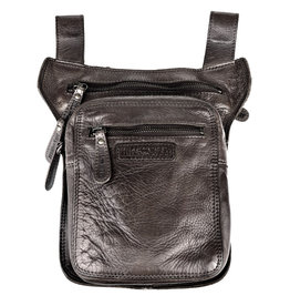 HillBurry HillBurry  belt bag - leg bag washed leather black
