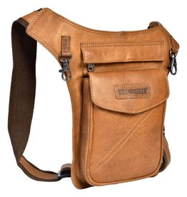 HillBurry Leather Waist Bag HillBurry 3113cg