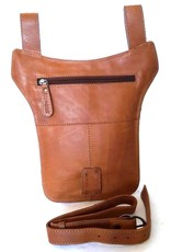 HillBurry Leather Festival bags, waist bags and belt bags - Hillburry belt bag - leg bag oiled leather brown