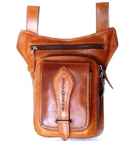 HillBurry Hillburry belt bag - leg bag oiled leather brown