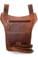 HillBurry Leather Festival bags, waist bags and belt bags - Hillburry belt bag - leg bag oiled leather dark brown