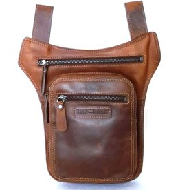 HillBurry Hillburry belt bag - leg bag oiled leather dark brown