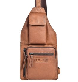 HillBurry Hillburry leren Crossbody tas 3338