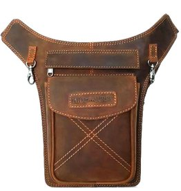 HillBurry HillBurry hip bag from tanned leather mango tan