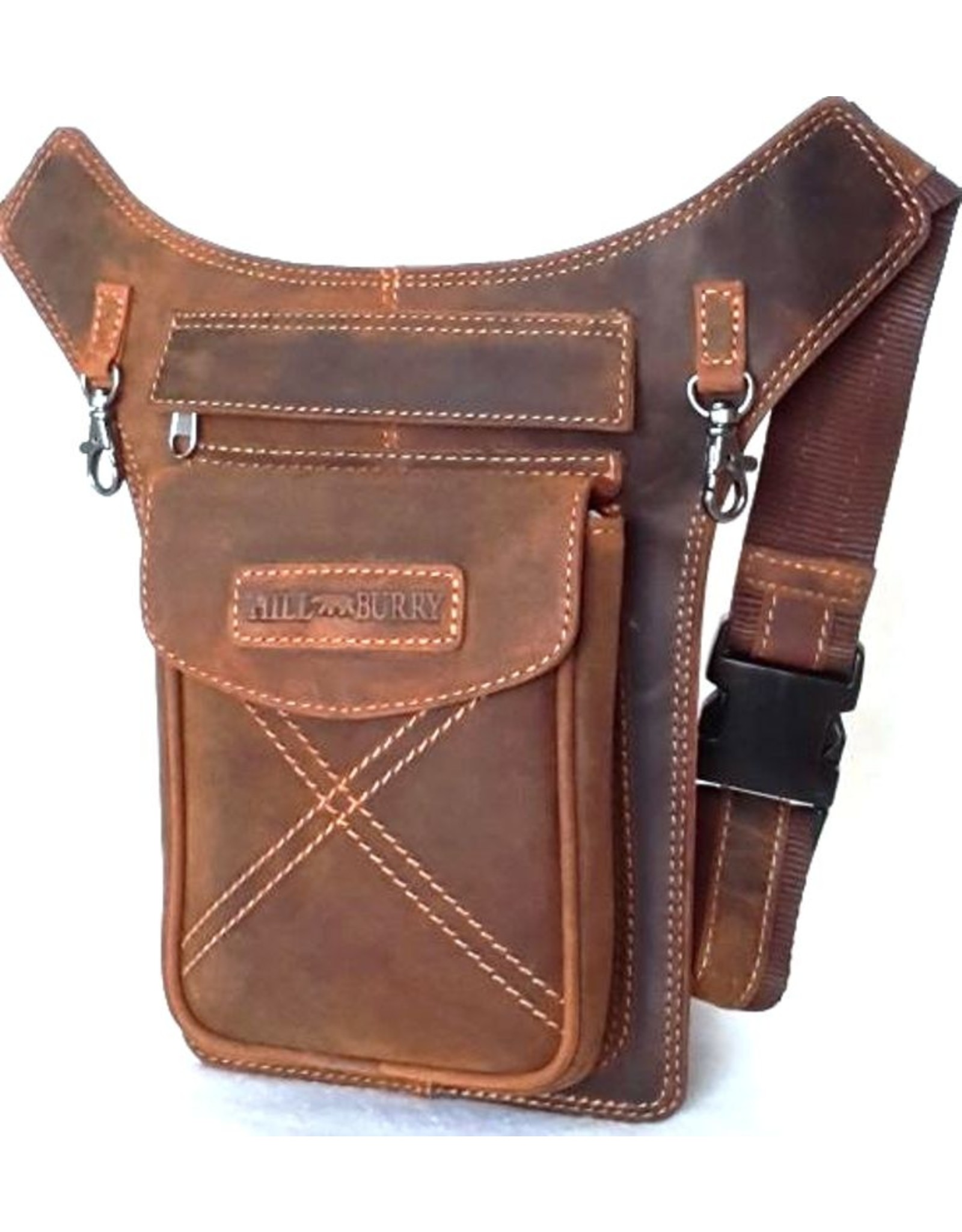 HillBurry Leather Festival bags, waist bags and belt bags - HillBurry hip bag from tanned leather mango tan