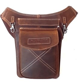 Hutmann Hütmann hip bag  tanned leather brown