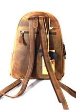 HillBurry Leren rugzakken Leren shoppers - HillBurry rugzak van Buffelleer bruin