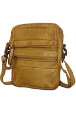 Bear Design Small leather bags, clutches and more - Bear Design shoulder bag - belt bag Vikas (ocher yellow)