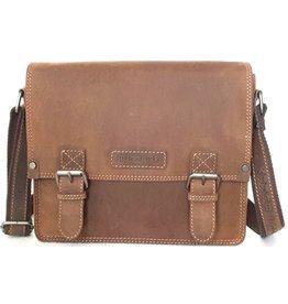HillBurry Hillburry Vintage look Leather school bag (medium)