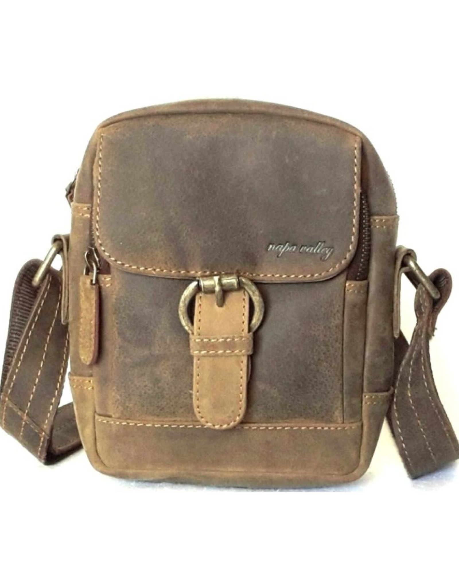 Napa Valley Leather shoulder bags Leather crossbody bags - Leather crossbody bag Napa Valley olive (small)