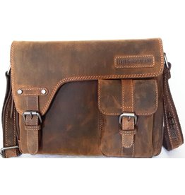 HillBurry HillBurry Leren tas met holster omslag (medium)