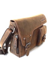 HillBurry Leather laptop bags - HillBurry Leather bag with holster cover (medium)