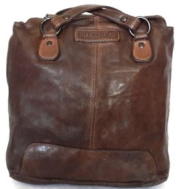 HillBurry HillBurry leather shoulder bag - backpack from washed leather