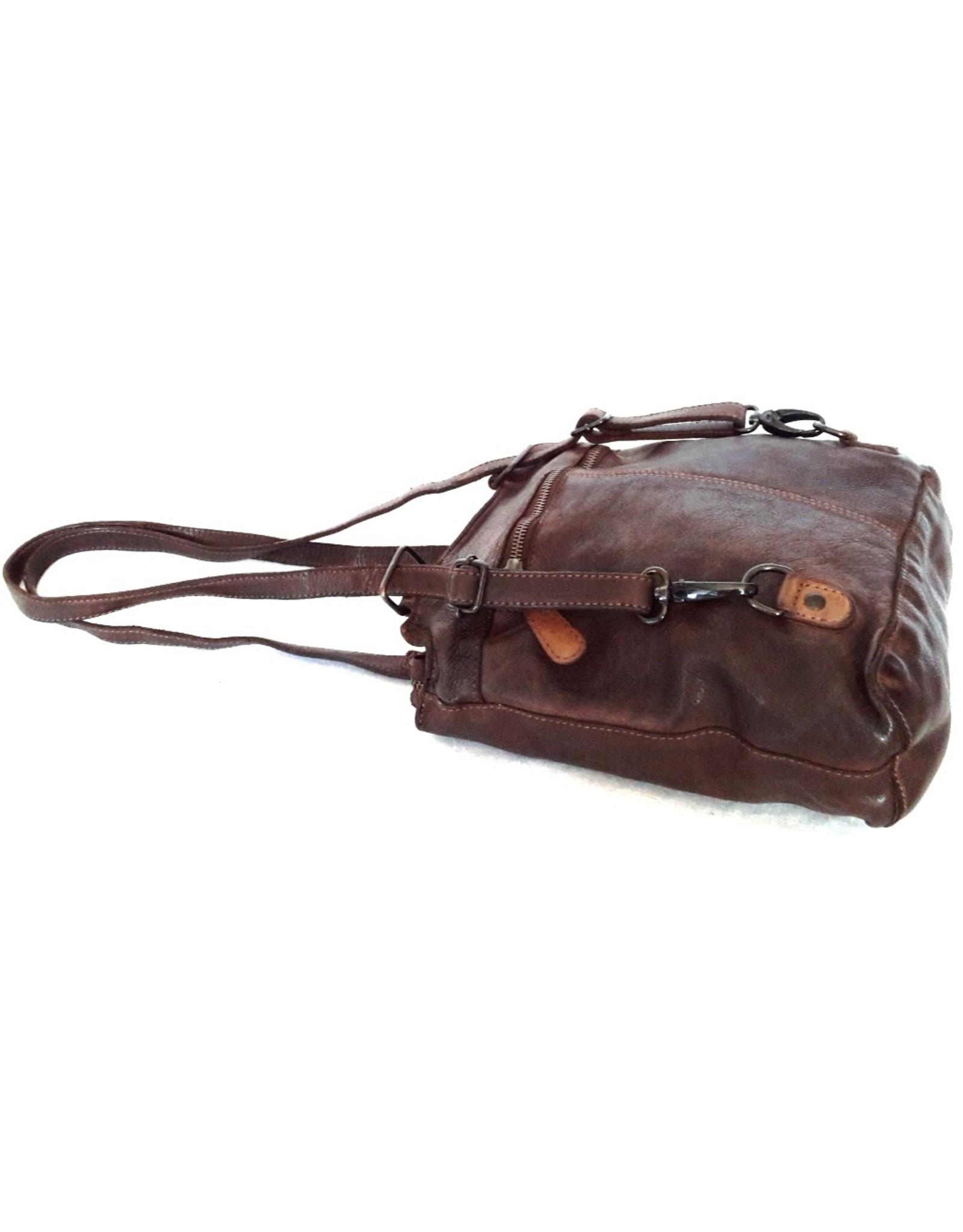 HillBurry Leren rugzakken Leren shoppers - HillBurry schoudertas - rugtas van gewassen leer
