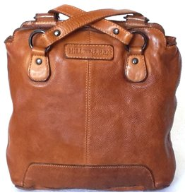 HillBurry HillBurry backpack-shoulder bag washed leather (Tan)