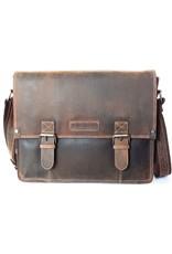 HillBurry Leren werktassen en Leren laptoptassen - HillBurry Leren schooltas vintage look (large)
