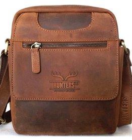 Hunters Hunters crossbody tas met afgeronde hoeken (tan)