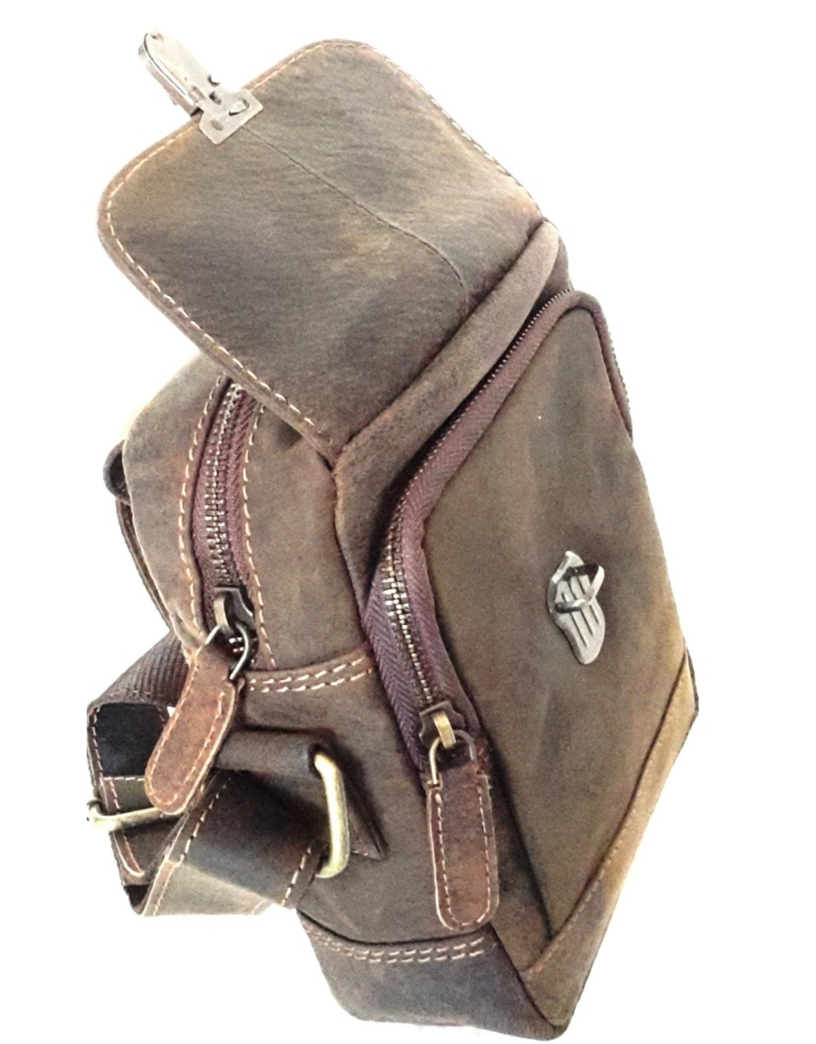 Napa Valley Leren schoudertassen Leren crossbody tassen - Leren crossbody tas met schuifsluiting  Best Burry