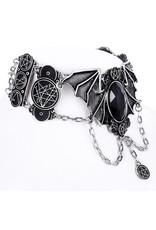 Restyle Gothic sieraden Steampunk sieraden -  Gothic choker Necronomicon Bat wings