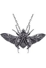 Restyle Gothic sieraden Steampunk sieraden -  Hanger met ketting Occult Beetle