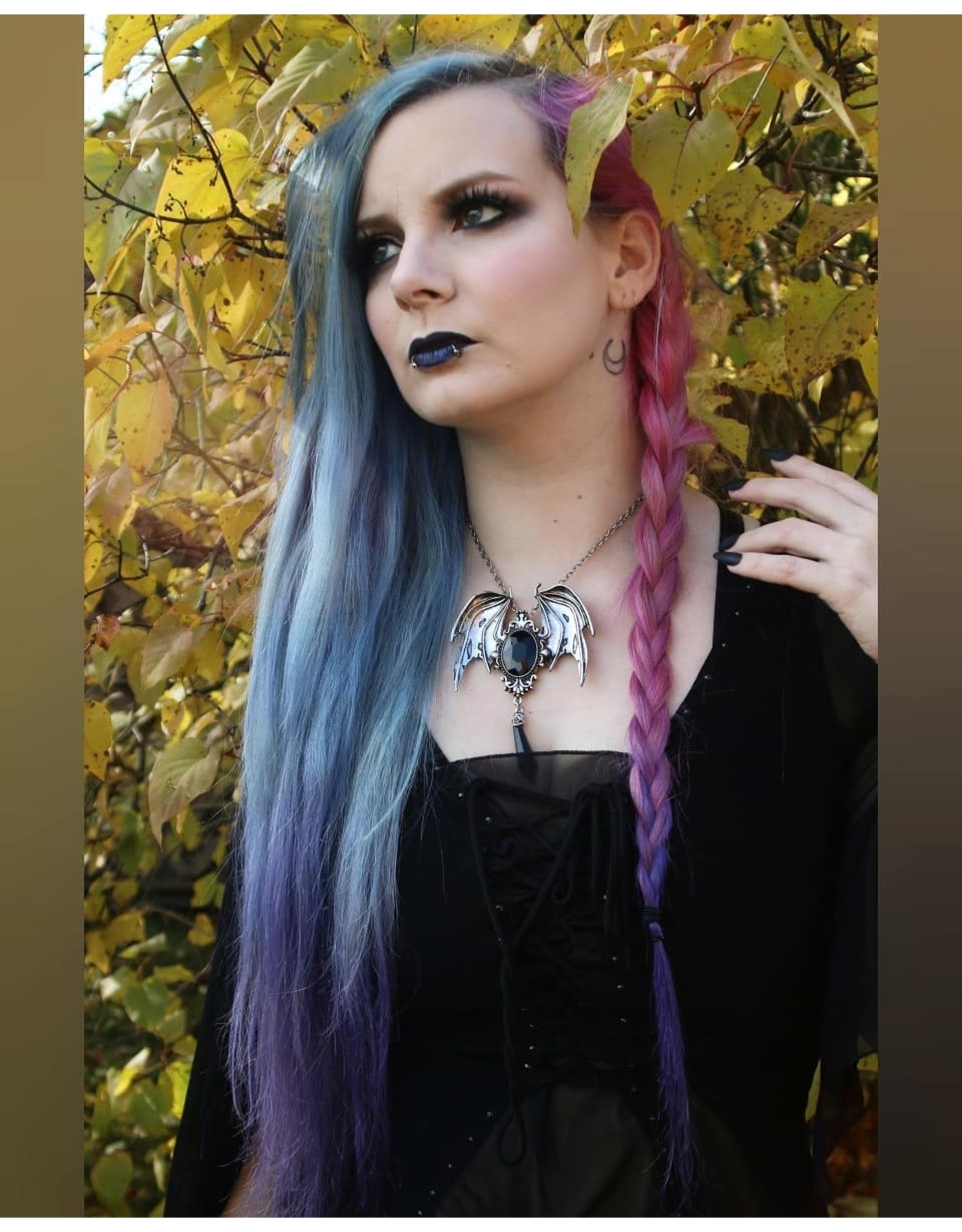 Restyle Gothic sieraden Steampunk sieraden -  Gothic -Victoriaans Hanger en Broche in één Della Morte (zwart)