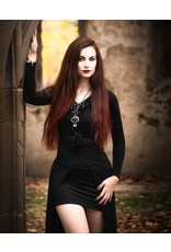 Restyle Gothic accessoires - Ketting met hanger Claws and Bones zwart