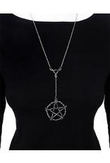 Restyle Gothic sieraden Steampunk sieraden -  Lange ketting met pentagram Branch Pentagram - Restyle