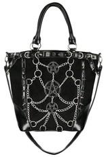 Restyle Gothic tassen Steampunk tassen - Gothic Shopper met kettingen en pentagrammen - Restyle
