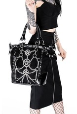 Restyle Gothic bags Steampunk bags - Gothic shopper with chains and pentagrams - Restyle