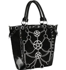 Restyle Gothic Shopper met kettingen en pentagrammen - Restyle