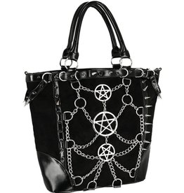 Restyle Gothic shopper with chains and pentagrams - Restyle