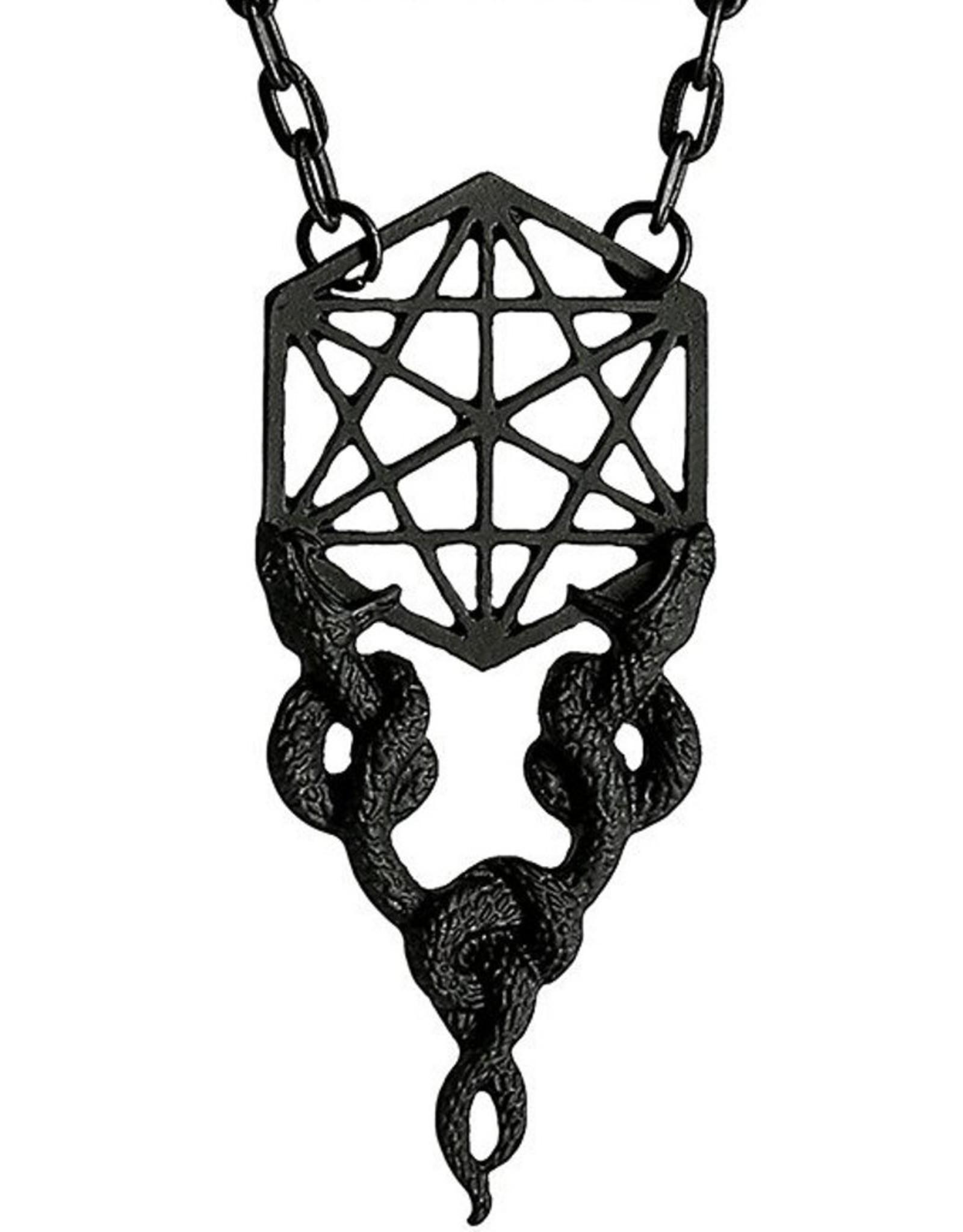 Restyle Gothic sieraden Steampunk sieraden - Ketting met Slangen Sacred Snakes (zwart) - Restyle