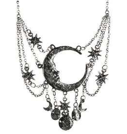 Restyle Necklace with Crescent and Stars Sleepless Night - Restyle