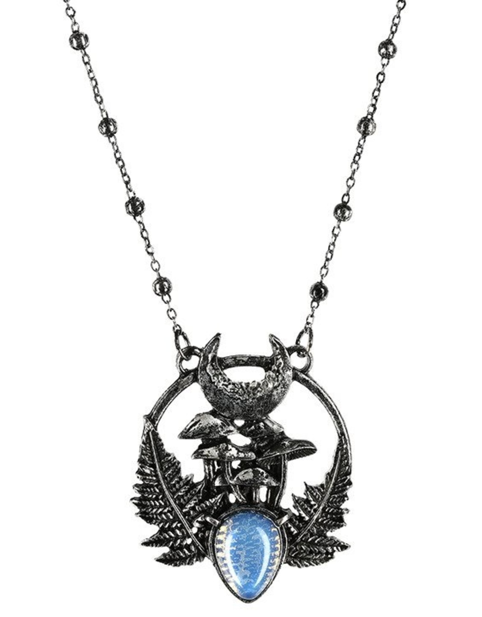 Restyle Gothic en Steampunk accessoires - Ketting met Maansteen Magic Forest - Restyle