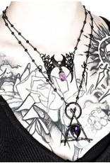 Restyle Gothic sieraden Steampunk sieraden - Ketting met kristal Branch Crescent (zwart)- Restyle