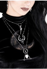 Restyle Gothic jewellery Steampunk jewellery - Gothic ketting 3D Crescent Skull - Restyle