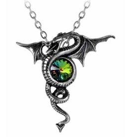 Alchemy Anguis Aeternus Dragon necklace with crystal - Alchemy