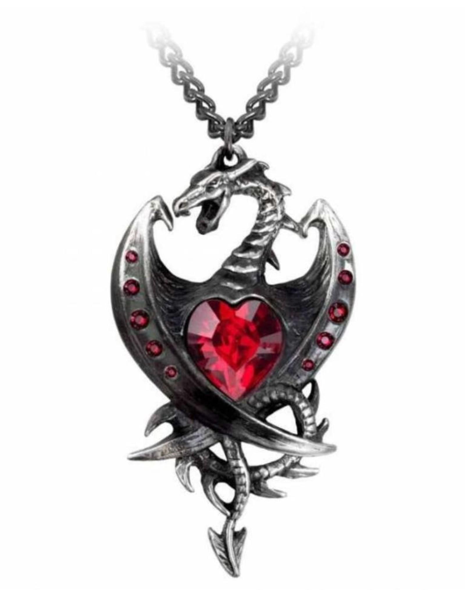 Alchemy Gothic sieraden Steampunk sieraden - Draak ketting Diamond Heart - Alchemy