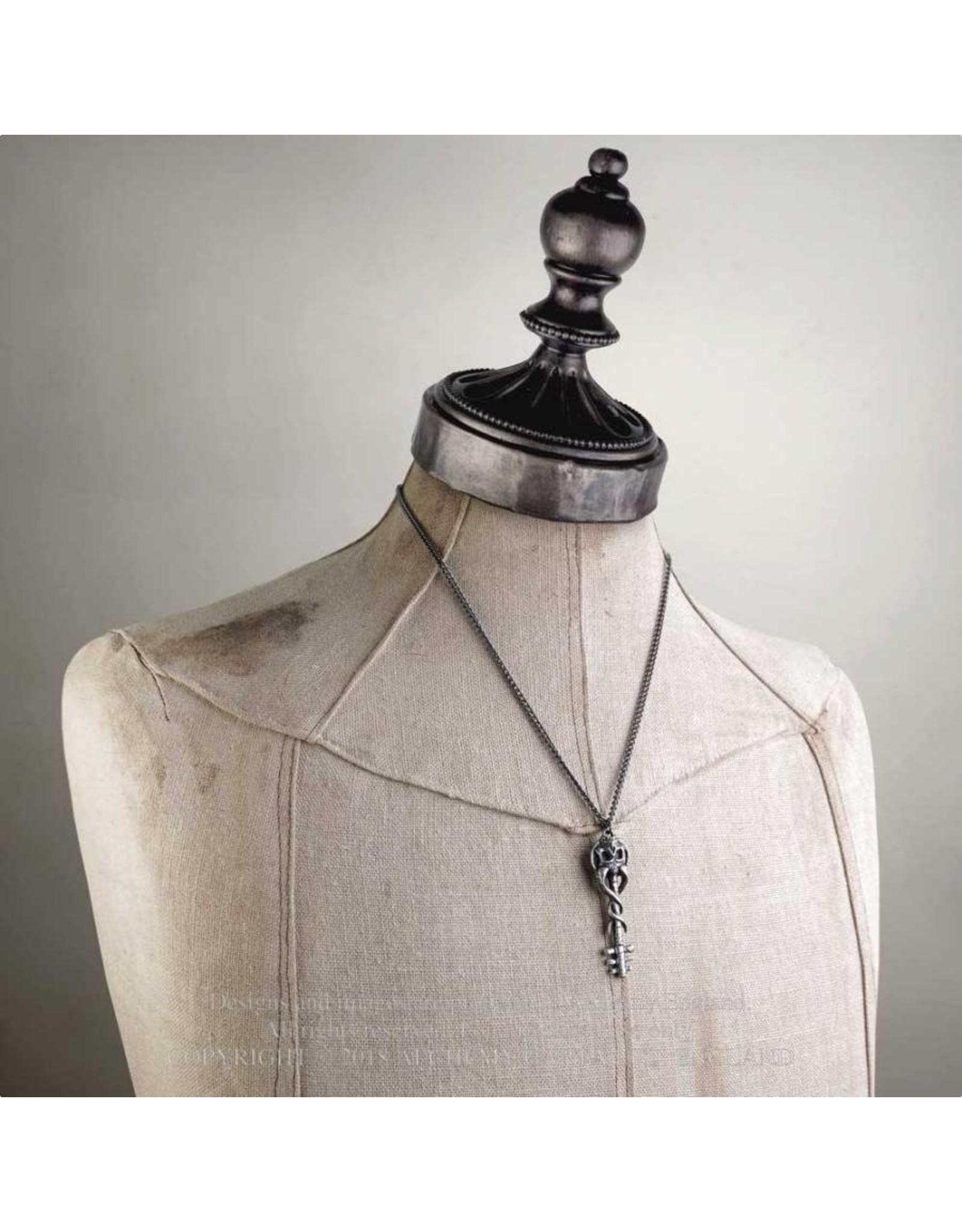 Alchemy Gothic sieraden Steampunk sieraden - Hanger met ketting Satan's Key to Hell - Alchemy