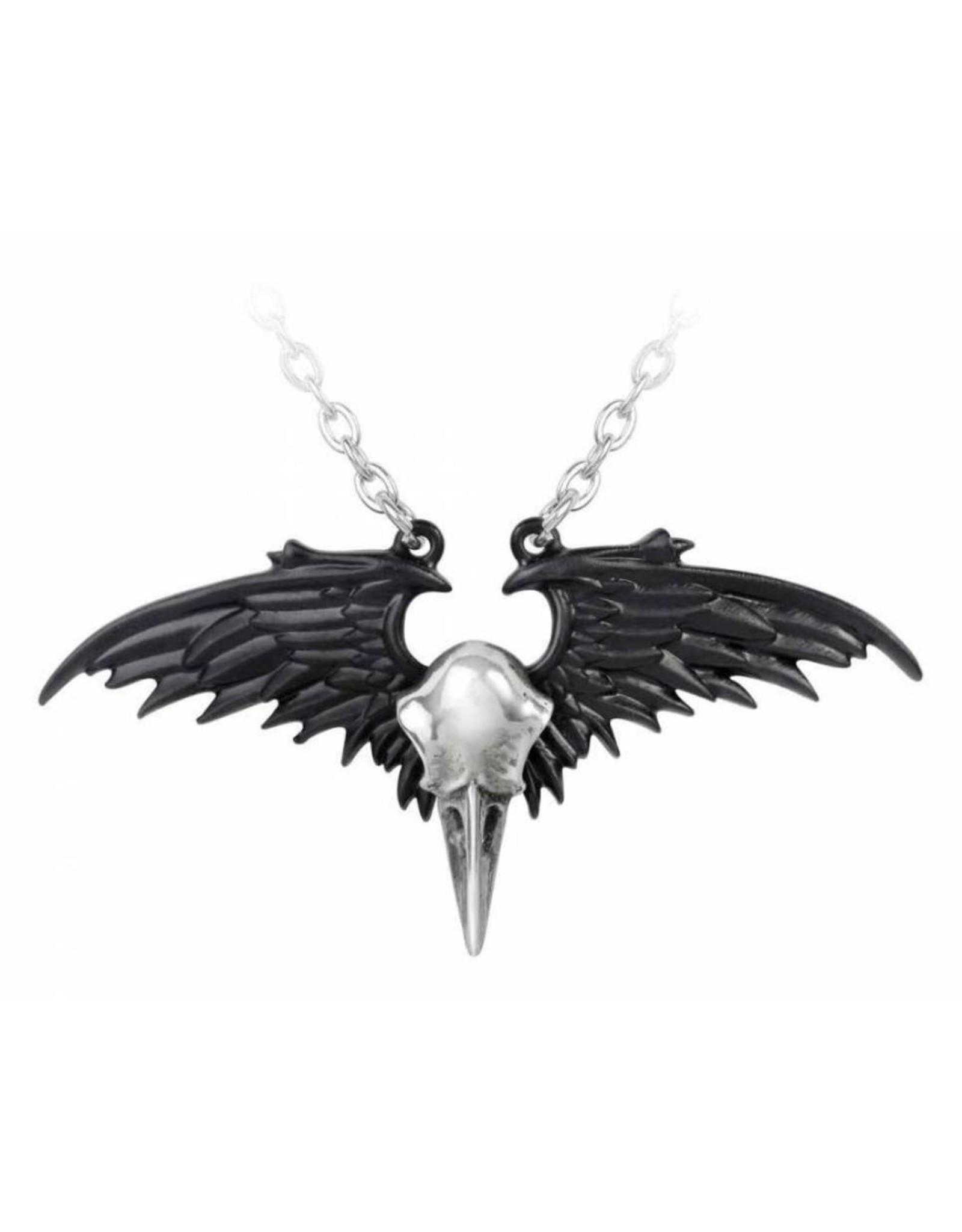 Alchemy Gothic sieraden Steampunk sieraden - Raven Schedel ketting Ravenger - Alchemy