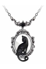 Alchemy Gothic jewellery Steampunk jewellery - Black Cat Necklace Feline Felicity - Alchemy