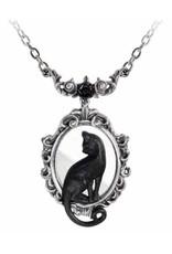 Alchemy Gothic sieraden Steampunk sieraden - Ketting met Zwarte Kat Feline Felicity - Alchemy