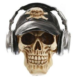 Skull met koptelefoon