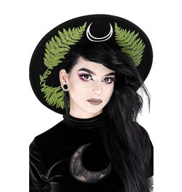 Restyle Fern Hat with wide brim - Forest Witch