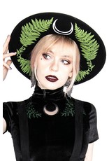 Restyle Gothic and Steampunk accessories - Forest Witch Hat with wide brim (wool)